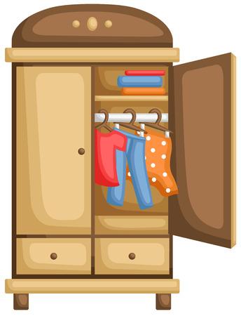 Armoire pour vêtements Vecteurs