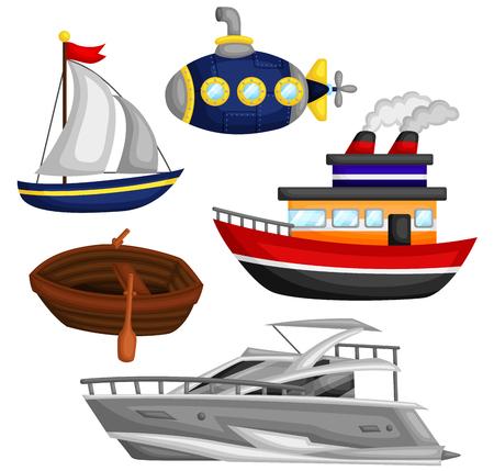 water transportation: Water Transportation Vector Set