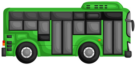 rearview: Green Bus