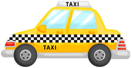 rearview: Cute Yellow Taxi