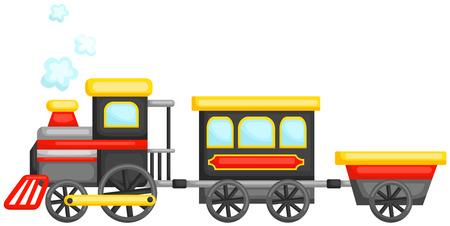 tren lindo Ilustración de vector
