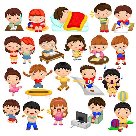 chismes: Actividades diarias para ni�os Vectores