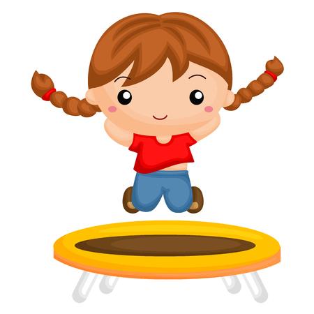 jumping girl: A jumping girl Illustration
