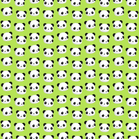 panda: Panda Head Background Illustration