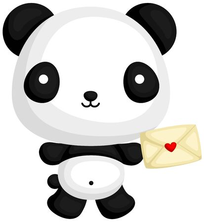 love letter: Panda with Love Letter