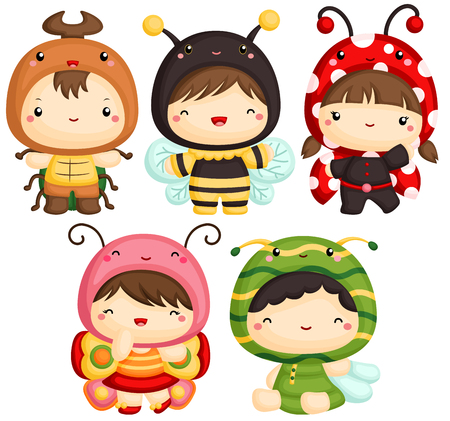 cute bee: Boys and Girl in Insect Cute Costume