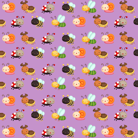 bug's: Bugs Cute Pattern Background