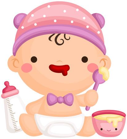 Baby-Essen Vektorgrafik