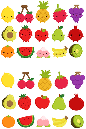 Schattig fruit pictogram Stock Illustratie