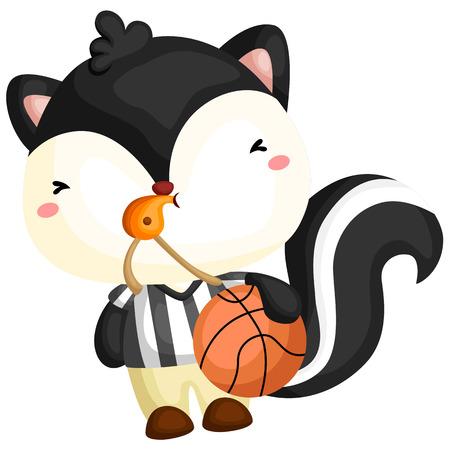 referee: Referee Skunk Illustration