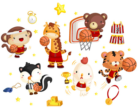 Basketball animal team Illustration