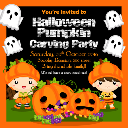 halloween party: Halloween Pumpkin Party Invitation