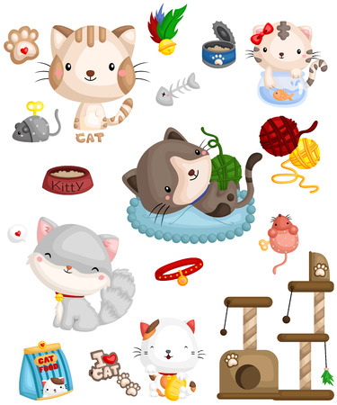 Happy Cats Vector Set