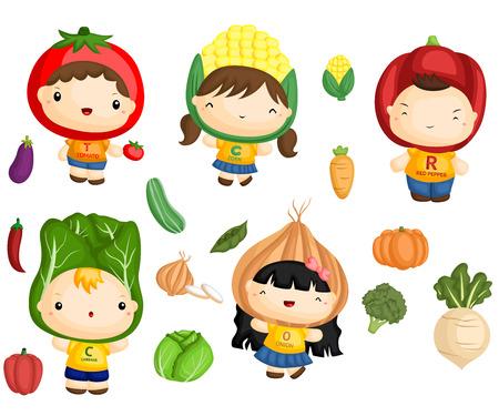 corn flower: Vegetable Kids
