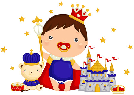 baby: Baby Prince with Bear and Castle