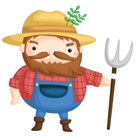 Old Farmer Illustration