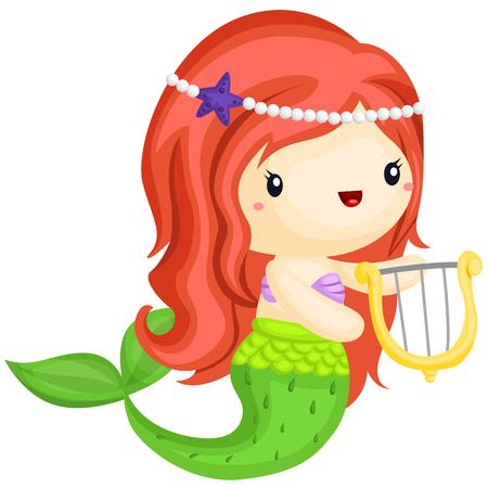 Glückliche Meerjungfrau