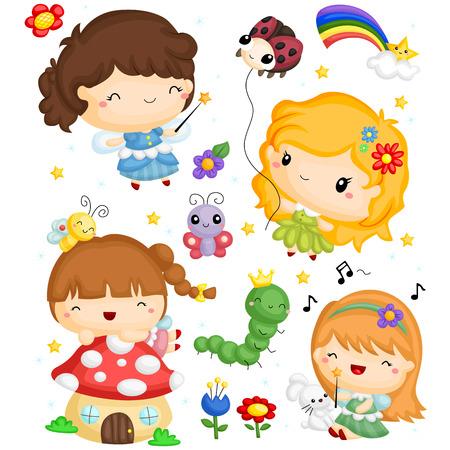 fairy vector set Illustration