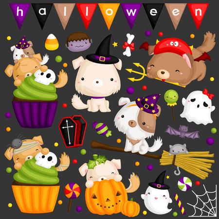 Halloweenowy pies Ilustracja