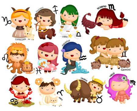 Horoscope Vector set Illusztráció