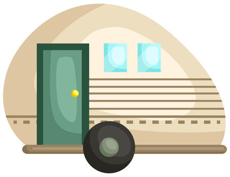 a trailer for camping and outdoor activities Illustration