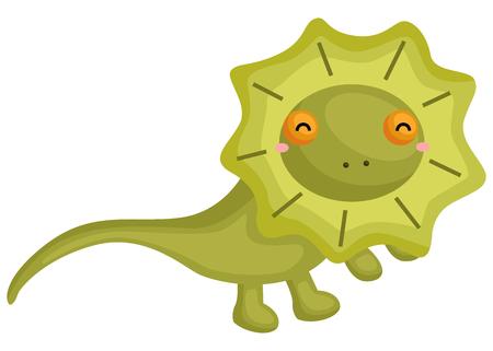 a vector of a cute frill next lizard