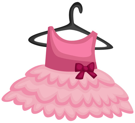 a vector of a ballerina uniform hanging  イラスト・ベクター素材