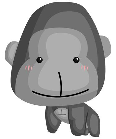 a vector of a cute and adorable gorilla