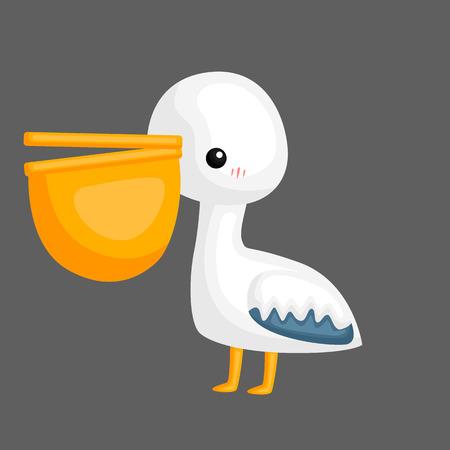 a vector of a cute pelican with a big peck Banco de Imagens - 112741284