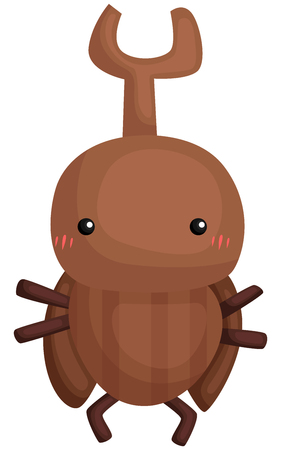 a vector of a cute rhinoceros beetle 向量圖像