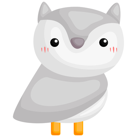 a vector of a cute and adorable arctic owl