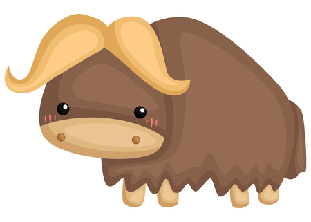 a vector of a cute and adorable muskox
