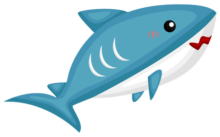 a vector of a cute and adorable shark