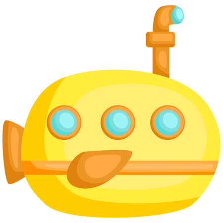 a vector of a cute and adorable submarine