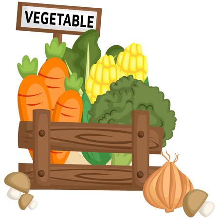 a vegetable basket full of fresh vegetables
