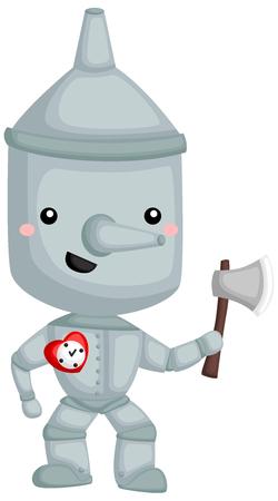 een vector van Tin man uit het verhaal van de tovenaar van oz