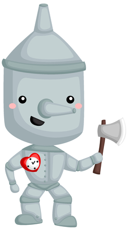 a vector of Tin man from wizard of oz story