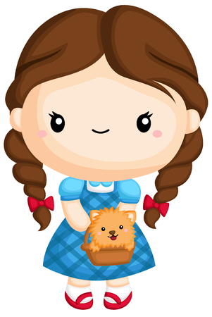 a vector of Dorothy from wizard of oz Illustration