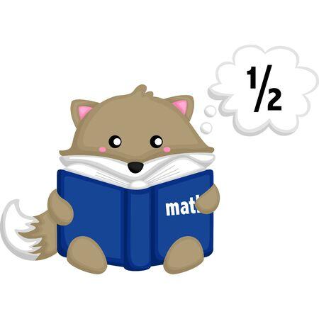fox reading books about mathematics