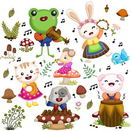 ANIMALS MUSICIANS Illustration