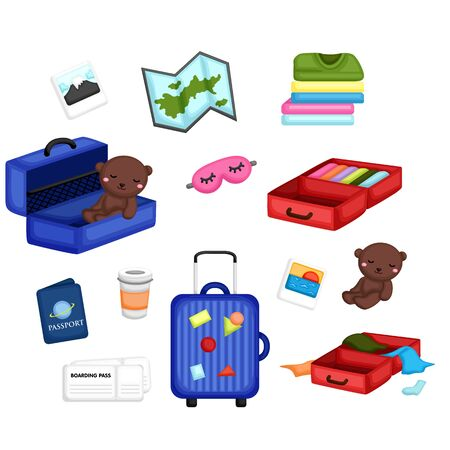 essentiële items voor reizen of vakantie