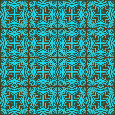 Turquoise elegant seamless pattern  Stock Vector - 11140169