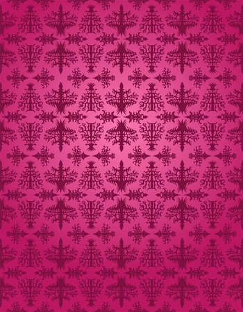 Purple rococo seamless pattern Stock Vector - 11571907