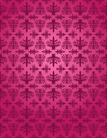 Purple rococo seamless pattern Vector