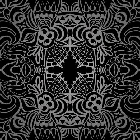 Tattoo black taboo seamless pattern  Ilustração