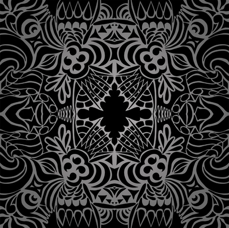 Tattoo black taboo seamless pattern  Vector