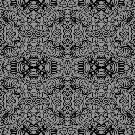 Grey art deco seamless pattern  Vector