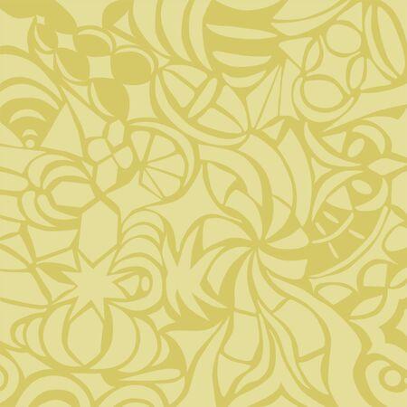 Mustard decorative background  Illustration
