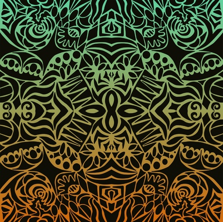 Aztec sunset seamless pattern Vector