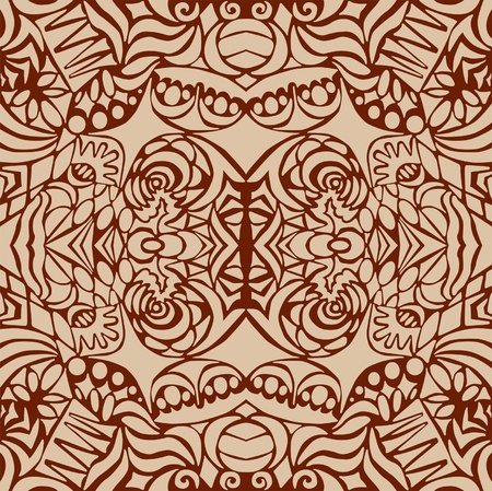 Brown art deco seamless pattern  Vector